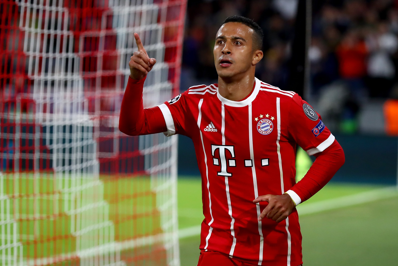 Thiago vom FC Bayern München