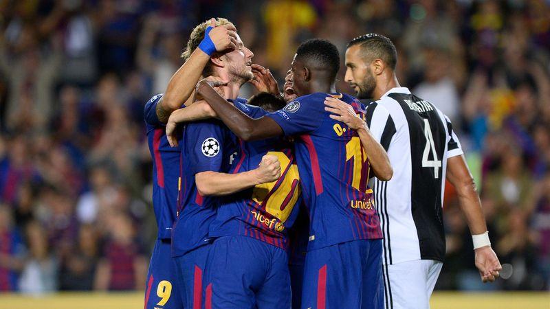 FC Barcelona celebrate