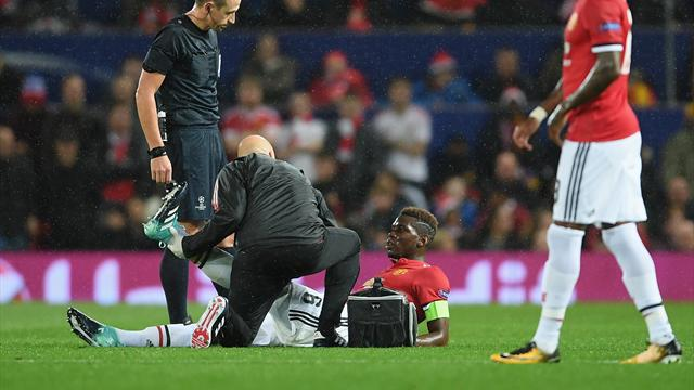 Pogba could miss 'a few weeks' with injury