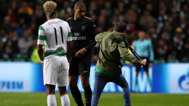 Tifoso tenta aggredire Mbappé, la Uefa apre un procedimento contro il Celtic