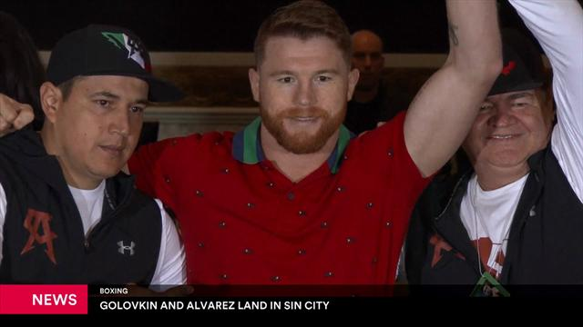 Golovkin and Alvarez land in Las Vegas ahead of mega fight