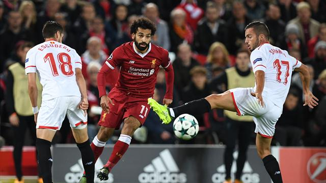 Liverpool, Salah non basta: 2-2 col Siviglia; impresa del Besiktas a Oporto