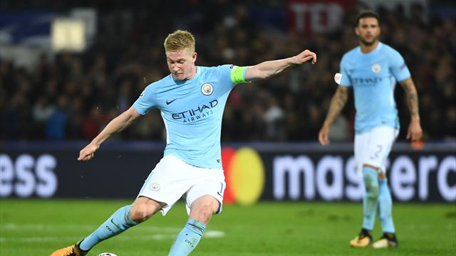 Guardiola hails De Bruyne as 'one of the best' he's seen