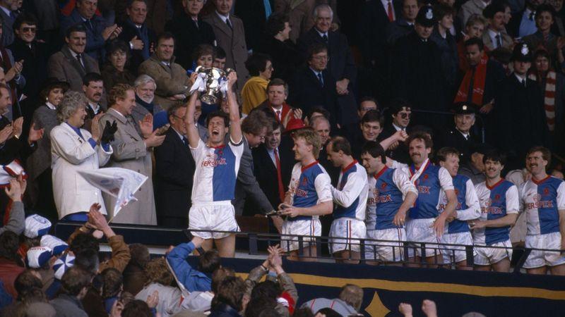 Blackburn Rovers captain Glenn Keeley holds the Full Members Cup