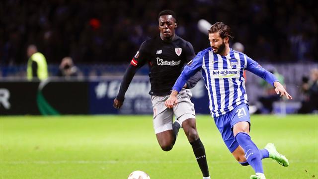 Europa League, Hertha-Athletic: Herrerín salva los muebles (0-0)