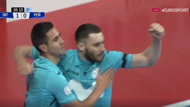 LNFS, Inter Movistar-Peñíscola: Gadeia hace el primer gol del vigente campeón en Liga