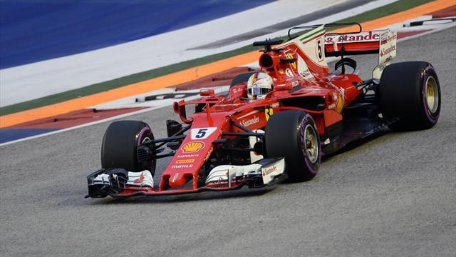 Vettel überzeugt im letzten Singapur-Training