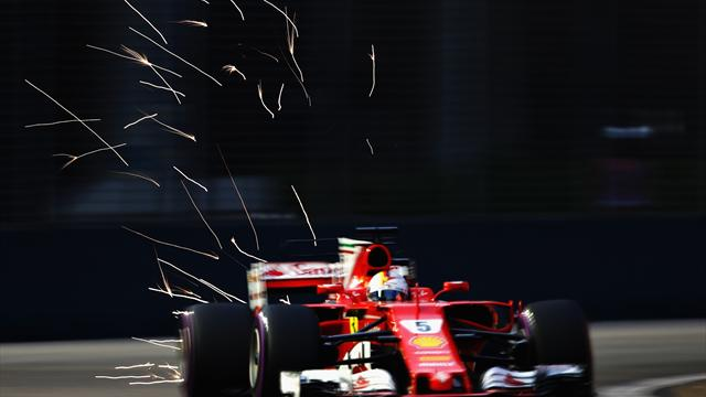Vettel überzeugt im Singapur-Training