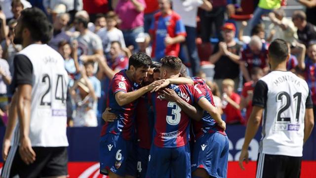 1-1. Valencia y Levante firman tablas en un duelo parejo e intenso