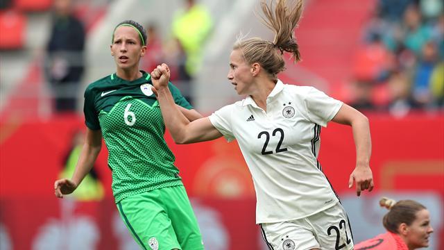 6:0 gegen Slowenien: DFB-Frauen starten erfolgreich in WM-Quali