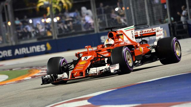 Formel 1: Vettel holt Pole Position in Singapur - Hamilton nur Fünfter