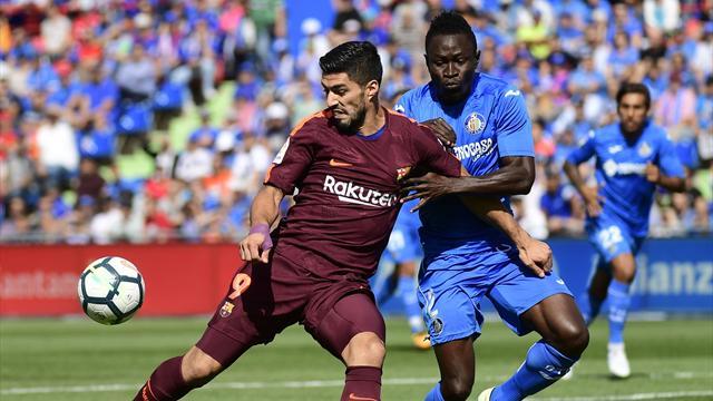 Paulinho y Denis Suárez encabezan la remontada del Barça en Getafe (1-2)