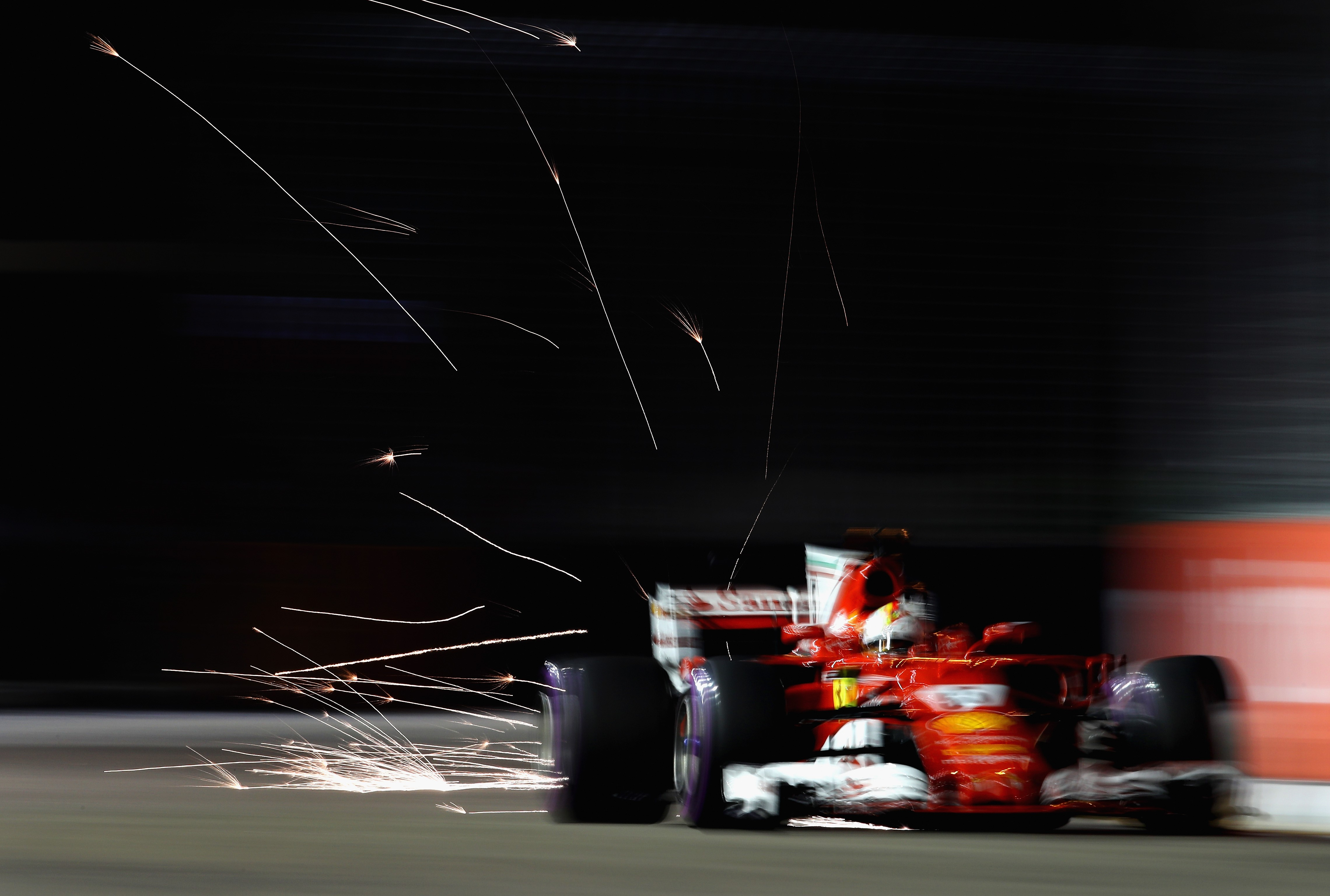 Sebastian Vettel (Ferrari) au Grand Prix de Singapour 2017