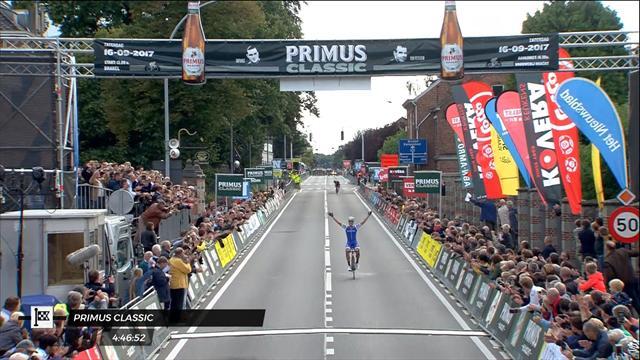 Sprint-Ass kann's auch als Solist: das Finale des GP Impanis-Van Petegem