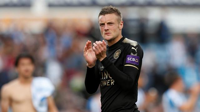 Leicester's Vardy earns draw at Huddersfield