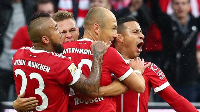 Robben scores with right foot in easy Bayern win