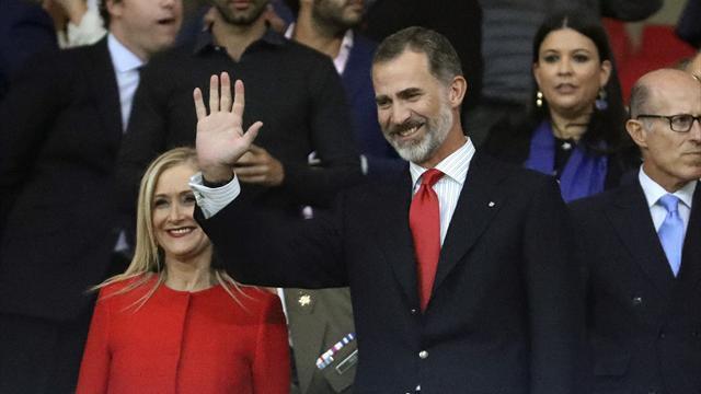 El rey Felipe VI presidió el estreno del Wanda Metropolitano desde el palco