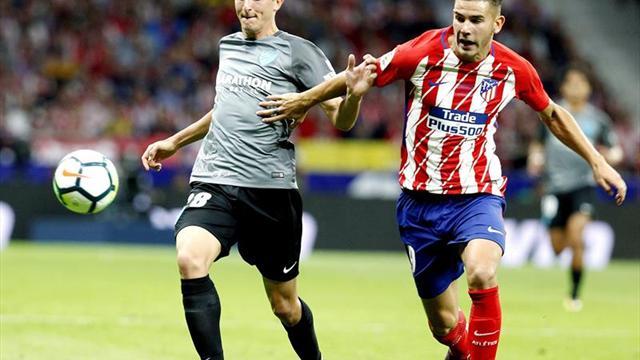 Atlético y Málaga empatan 0-0 al descanso en el estreno del Metropolitano