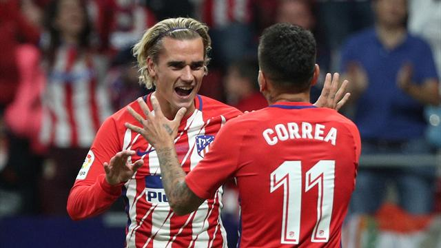 Griezmann fires Atleti to win at new stadium