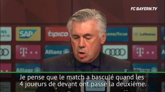 Bayern:  Ancelotti ravi par son secteur offensif