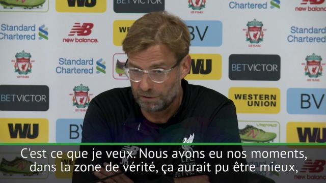 Klopp satisfait de la performance de Liverpool mais pas du résultat