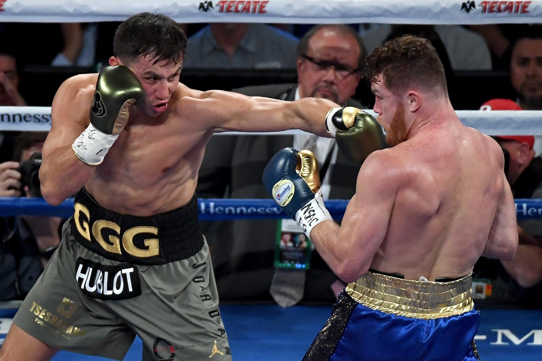 Gennady Golovkin et Canelo Alvarez lors de leur combat en 2017