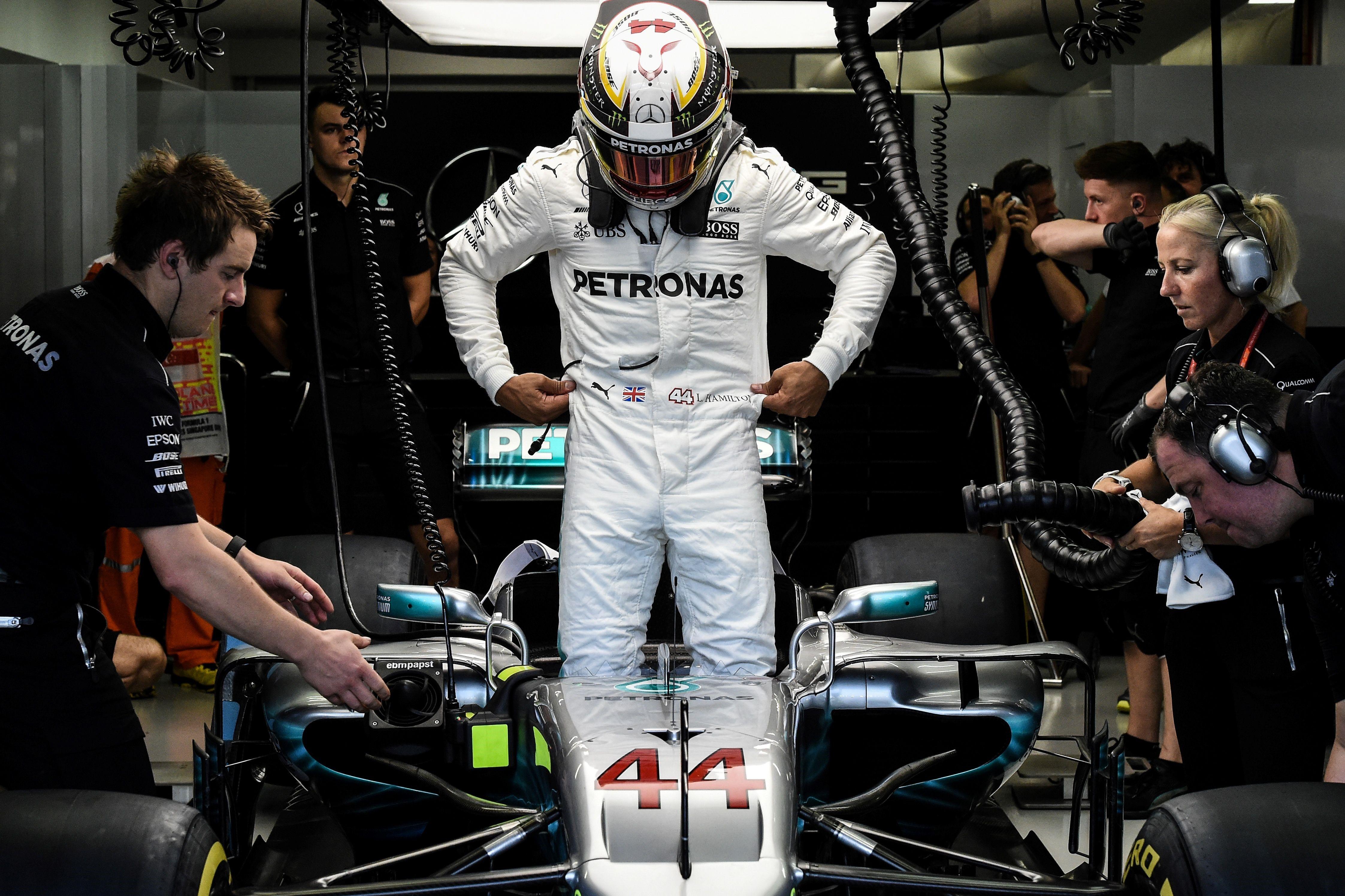 Lewis Hamilton (Mercedes) au Grand Prix de Singapour 2017