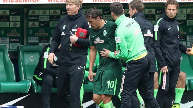 Nach Schlüsselbeinbruch: Werder-Profi Kruse erfolgreich operiert