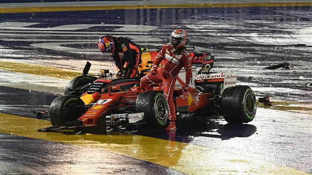 """Ferrari-Desaster in Singapur für Vettel """"kein Weltuntergang"""""""