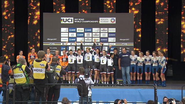 Mundiales Bergen, Contrarreloj por equipos: Las chicas del Sunweb, campeonas del Mundo