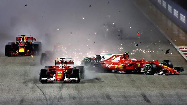 Disastro Ferrari, entrambe fuori alla prima curva! Hamilton ringrazia e vola nel mondiale