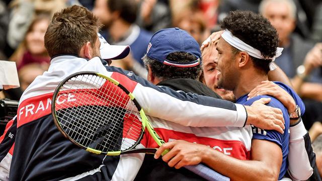 France reach Davis Cup final as Tsonga beats Lajovic