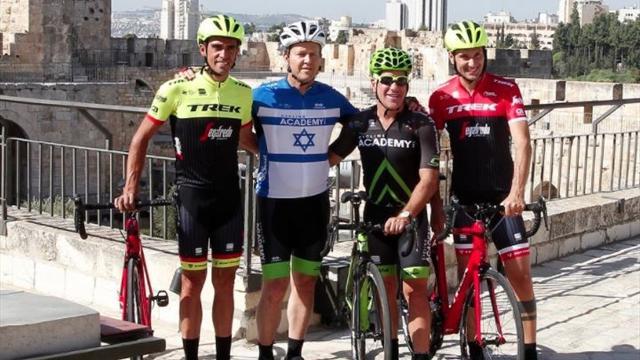 Giro de Italia 2018: Contador, la estrella absoluta de la presentación oficial en Israel