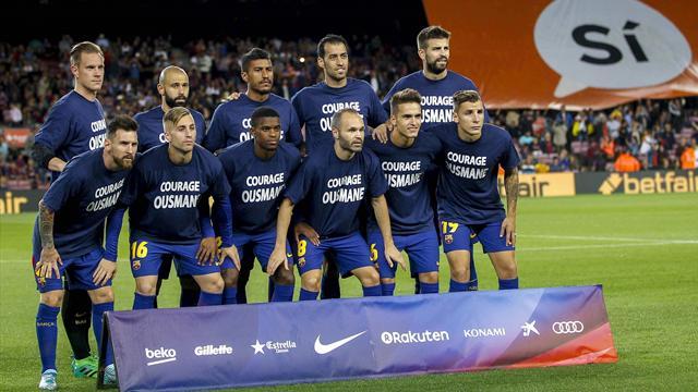 """""""Courage Ousmane"""", el mensaje de apoyo de los jugadores del Barça a Dembélé tras su operación"""