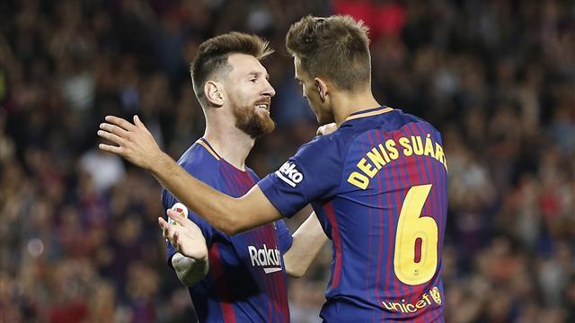 Messi s'offre un quadruplé, le Barça déroule