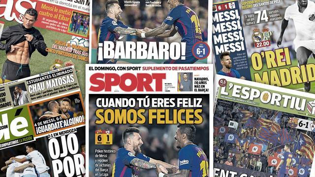 """La presse catalane dit """"Messi pour tout"""""""