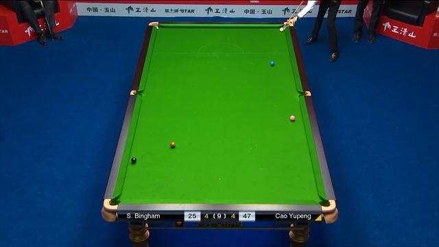 Cao Yupeng's 5-cushion fluke helps sink Bingham