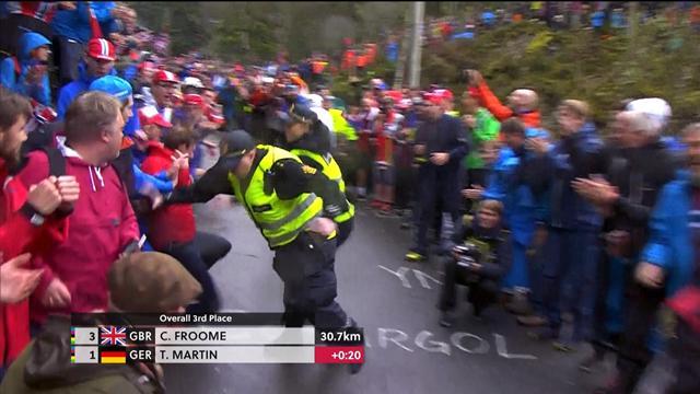 Il courait derrière Martin... il s'est violemment fait reprendre par la patrouille