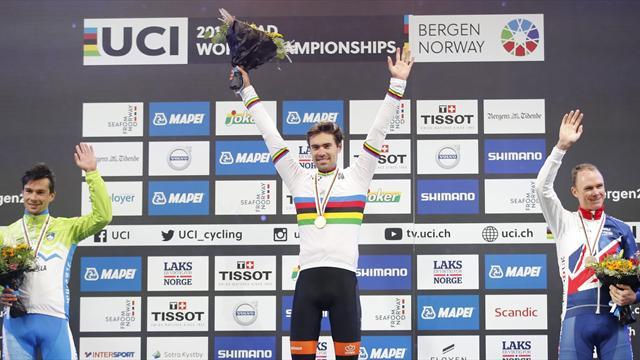 Mundiales Bergen, CRI masculina: Tom Dumoulin vuela más alto que Froome para ser campéon del mundo