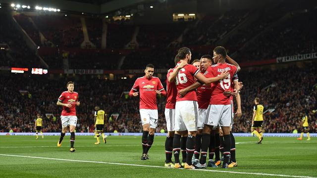 Rashford double leads United past Burton