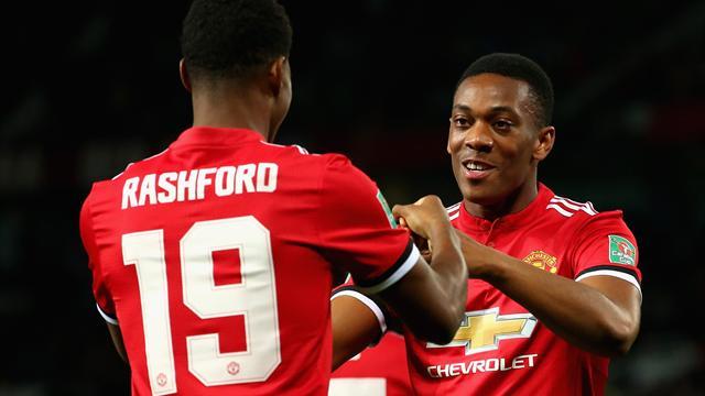 Rashford And Martial Start For United, Ibrahimovic On