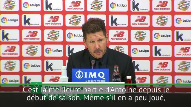 Simeone : »L'équipe joue mieux avec un Griezmann à ce niveau»