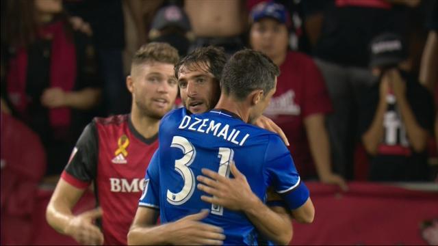 Buts gags et coups de canon, l'Impact Montréal et le Toronto FC ont fait le show