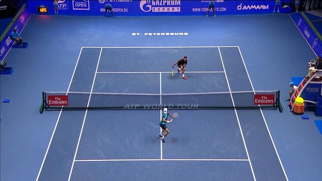 Joao Sousa needs six volleys to win crazy point