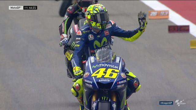 Rossi a fait son retour en piste, vendredi à Motorland Aragon