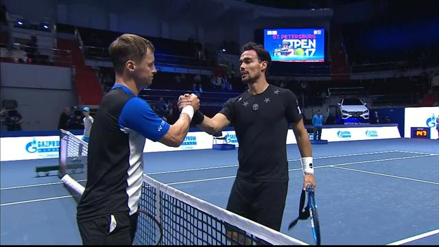 ATP San Pietroburgo: Fognini-Berankis, highlights