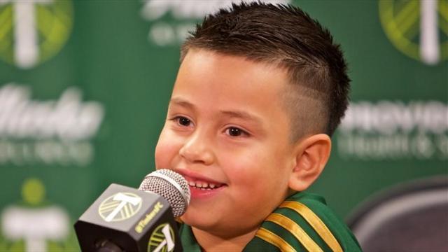 """Il Portland Timbers """"ingaggia"""" Derrick Tellez, un bimbo di 5 anni malato di cancro"""