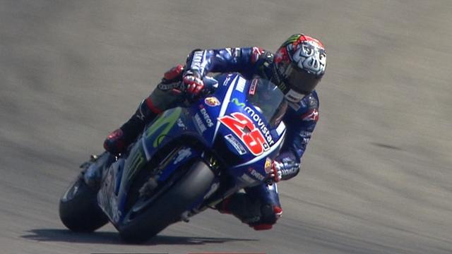 MotoGP: Viñales suma su quinta mejor clasificación, con Rossi tercero y Márquez, quinto, tras caerse