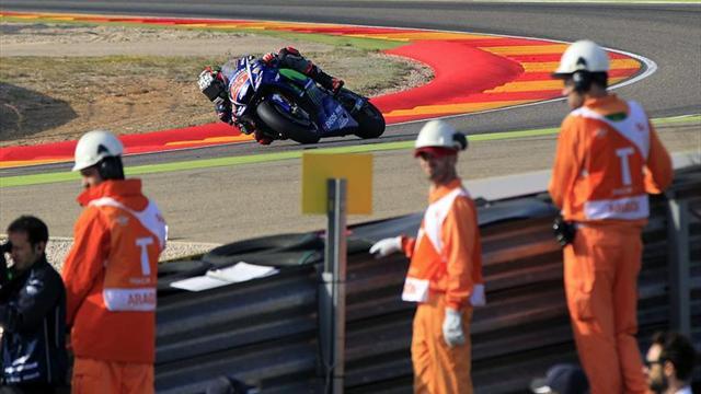 Maverick Viñales suma su quinta mejor clasificación del año, Rossi tercero