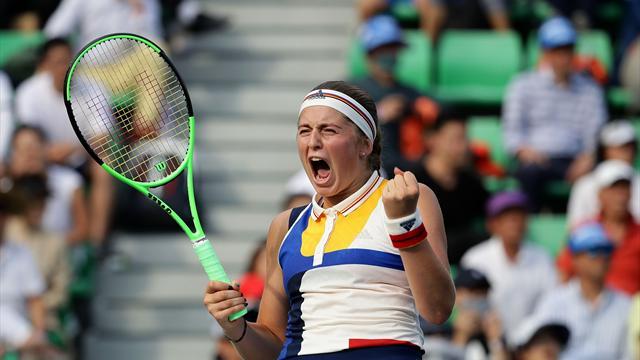 Остапенко обыграла Мугурусу на турнире в Ухани